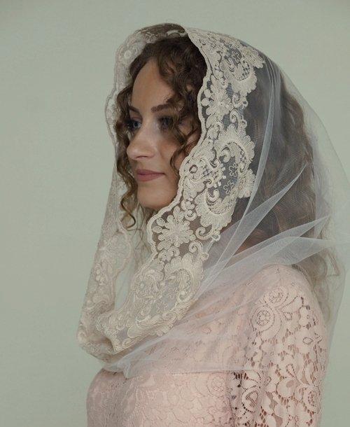 Платок накидка венчальная