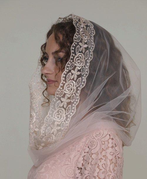 Платок накидка венчание