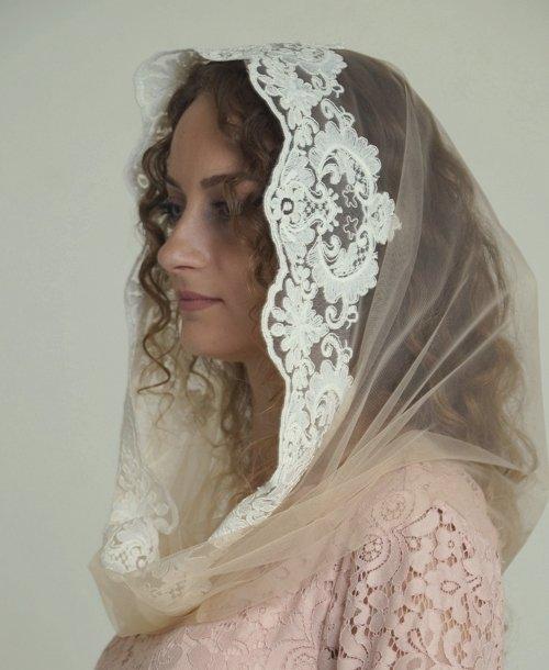 Снуд платок на венчание
