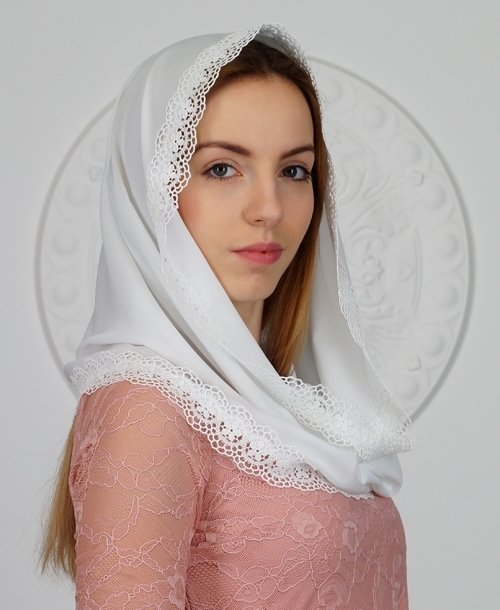 Шифоновый платок в церковь