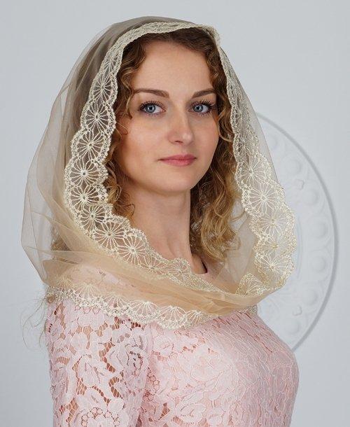 Платок накидка для венчания