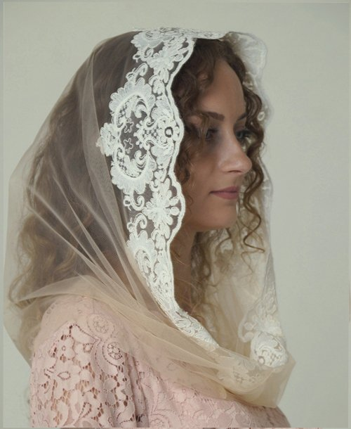 Платок для венчания кружевной